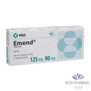 EMEND 125 80MG CON 3 CAPS