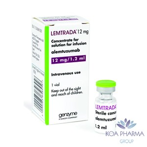 LEMTRADA 12 MG  1.2 ML CON 1 VIAL