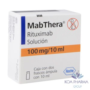 MABTHERA 100 MG CON 2 FCO AMP DE 10 ML