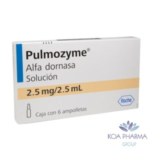 PULMOZYME 2.5 MG 2.5 ML CON 6 AMPS