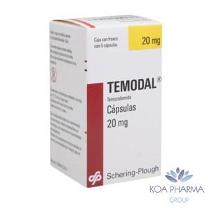 TEMODAL 20 MG CON 5 CAPS